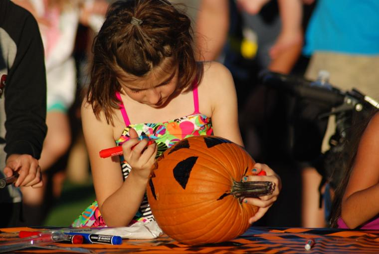 Oro Valley Monster Mash pumpkin decorating