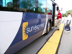 NW commuters going public Riders like using Sun Express