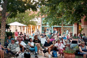 La Encantada 1: Audiences bring their lawn chairs and transform the La Encantada courtyard into an outdoor concert venue. - courtesy photo