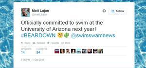 Falcon swimmer picks Arizona