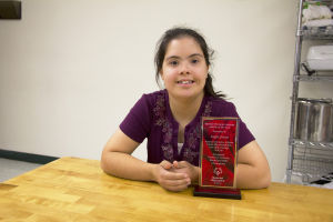 Angie Jones: Angie Jones, 18, was awarded the Southern Arizona Special Olympic Athlete of the Year. Jones is a junior at Mountain View High School and her favorite sport is tennis. - Hannah McLeod/The Explorer