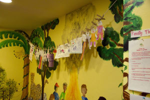 Tu Nidito: Artwork done by children at Tu Nidito hangs on the wall. - Hannah McLeod/The Explorer