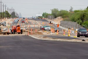 La Cañada Construction: Pima County Department of Transportation is charging the contractor Select Development, $2,500 per day that they are late after the scheduled July 1 completion date. - Randy Metcalf/The Explorer