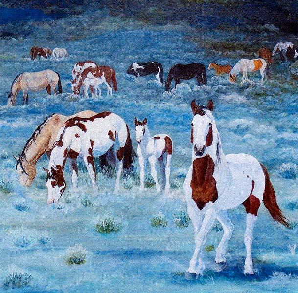 Painted horses