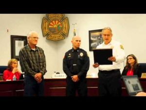Golder Ranch Fire Captain Steve Drury Honored for Care Rendered Off Duty
