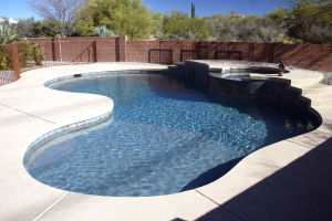 Pools By Design: A pool by Pools By Design, a company that has been open since 2009.  Pools By Design puts together a concept plan for a pool and backyard design for a home.  - Hannah McLeod/The Explorer