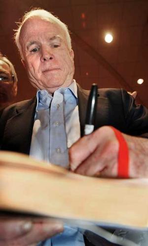 McCain feels the 'revolution'
