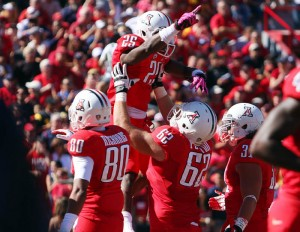 U Of A Vs USC Football (copy): Arizona hopes to have reasons to celebrate in their upcoming series against BYU. - Randy Metcalf/The Explorer