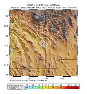 Tucson Earthquake