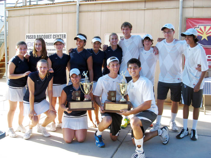 Ironwood Ridge boys' and girls' tennis team
