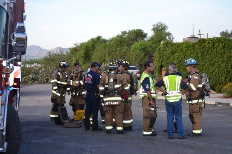 Hazmat crews on scene