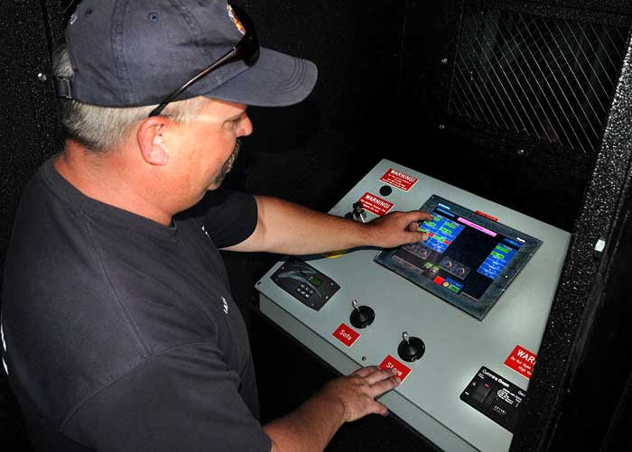 New training device for firefighters