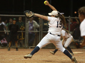 Ironwood Ridge Vs Canyon Del Oro Softball: Last week, Nighthawk pitcher Emily Robinson had her third playoff shutout.  - Randy Metcalf/The Explorer