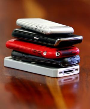 Cell phone stack