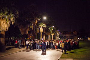 Lezo Urreiztieta: Hundreds of people gathered for a vigil at the University of Arizona. - J.D. Fitzgerald/The Explorer