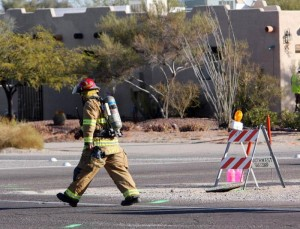 Gas leak shuts roads in OV