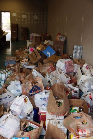 Bag-a-Thon: Efforts were successful in the 2012 Bag-a-Thon as 70,000 pounds of food has been collected.  - Courtesy photo