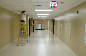 Northwest Hospital Surgical Wing: Final touches are being made in preparation of the new surgical wing going live next month. - Randy Metcalf/The Explorer
