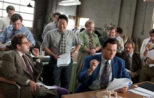 Top movie nominee 'The Wolf of Wall Street' exudes sex and greed