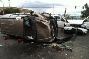 Fire Following Car Accident Put Out By Good Samaritan - Adam Goldberg/Northwest Fire