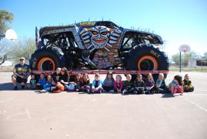 Monster truck brings hope to Roadrunner student