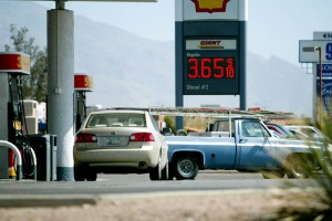 Gas 2: In the last month, gas prices in Tucson have increased more than 30 cents per gallon.  - Randy Metcalf/The Explorer