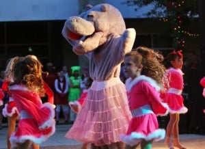 Marana Holiday Tree Lighting: Members of the Tucson Dance Academy perform a musical number to I Want a Hippopotamus for Christmas.  - Randy Metcalf/The Explorer