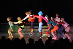 Clown College: Earlier this month, students at Wilson K-8 put on a circus show as part of its clown college portion of class. - Randy Metcalf/The Explorer