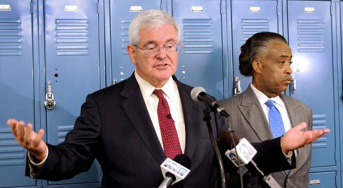 Gingrich, Sharpton praise charter's innovation
