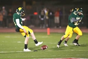 Not Done Yet  : J.D. Fitzgerald/Special to The Explorer, Tilghman Harvey's onside kick Friday night gave Canyon Del Oro its chance to win. It was recovered by the Dorados' Cooper Smith.