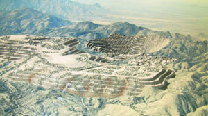 Pima County Board Opposes Rosemont Mine: An illustration of what the Rosemont Copper mine might look like if approved. - Courtesy Photo