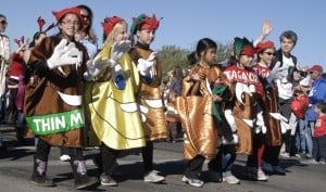 Oro Valley Holiday Parade: Dressed as their favorite cookies, Girl Scout troop 174 walks in the Eighth-Annual Oro Valley Holiday Parade.  - Don Boorse/Special to the Explor