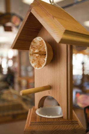 The Wild Bird Store: Various bird feeders are for sale at The Wild Bird Store, all which are designed to attract different kinds of birds. - Randy Metcalf/The Explorer