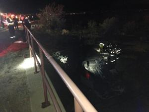 Weekend rollover crash injures mother and child