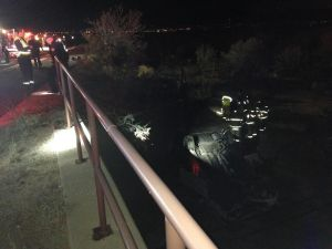 Weekend Rollover Crash Injures Mother And Child - Adam Goldberg/Northwest Fire