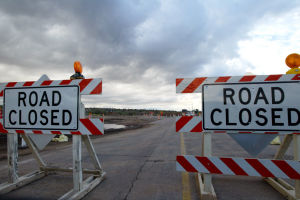 Road Closure - Randy Metcalf/Explorer Newspaper