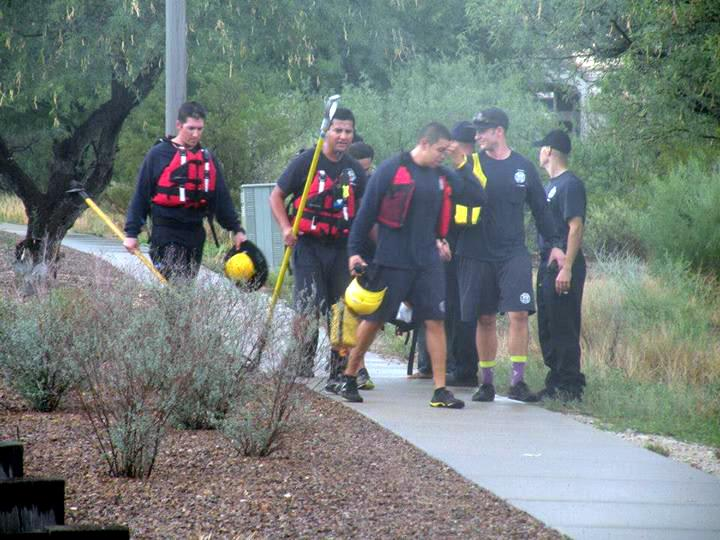 Golder Ranch Fire rescues Oro Valley teen from flooded wash