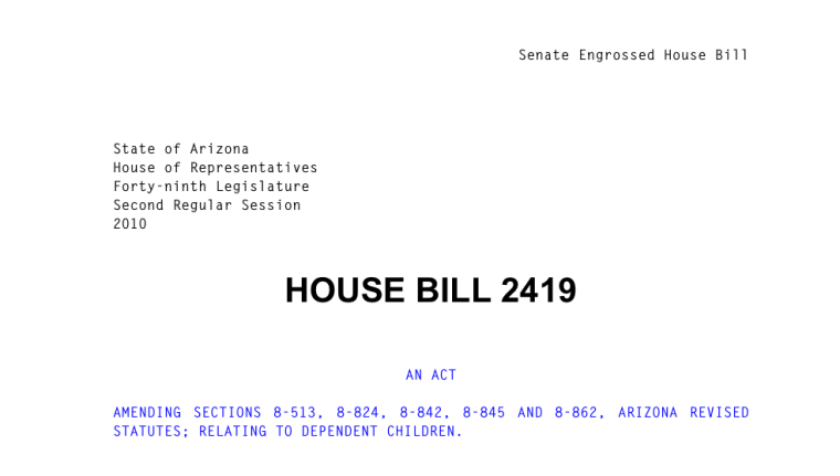 House Bill 2419