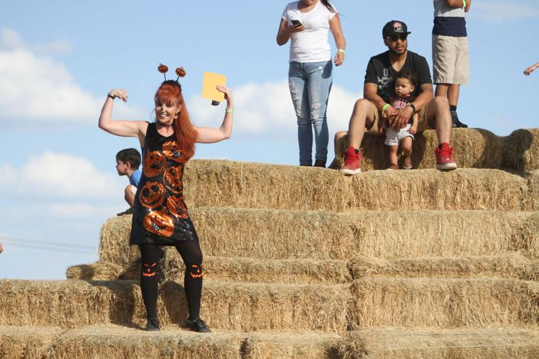 Marana Pumpkin Patch & Farm Festival 2016 Posed Flexing
