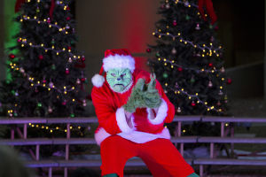 Marana Christmas: Jeff Bacigalupo, a Tucson Dance Academy teacher, played The Grinch in a dance act by Tucson Dance Academy. - Hannah McLeod/The Explorer