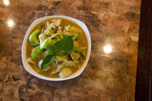 Grain River Asian Bistro: The Red Curry is one of the restaurants more popular dishes. Grain River Asian Bistro makes an effort to have high quality customer service. - Hannah McLeod/The Explorer