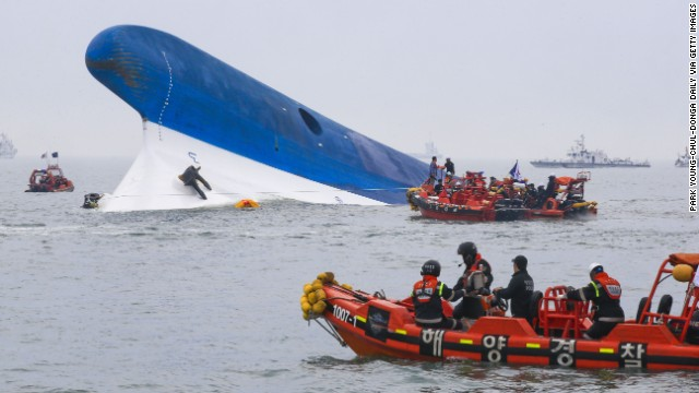 South Korea sinking ship