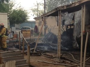 Fire On Miracle Mile: A fire completely destroyed a mobile home in the 1100 block of West Miracle Mile, the fire being started intentionally.