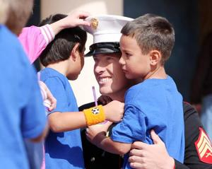 Students bond with Marine