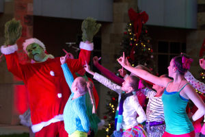 "Marana Christmas: ""The Grinch"" dance was one of two dances that Tucson Dance Academy performed at the Marana Christmas festival. - Hannah McLeod/The Explorer"