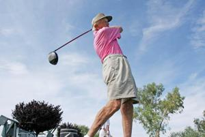 Golfing, painting to 100