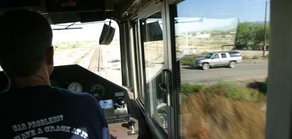 Policing Marana's railroad crossings