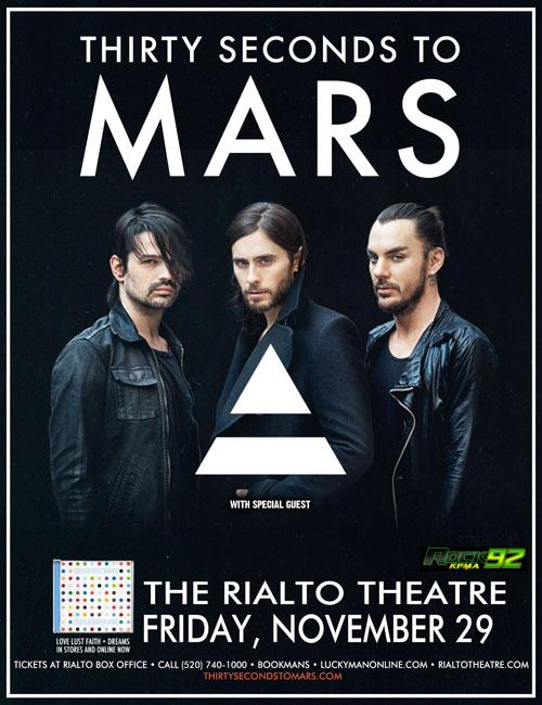 30 Seconds to Mars performing at the Rialto