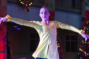 Marana Christmas: Bridgette Jensen, 14, takes the stage at the Marana Christmas festival. - Hannah McLeod/The Explorer