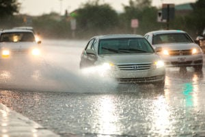 Northwest Storms: A storm that produced around one and a half inches of rain accompanied by strong winds hit Northwest Tucson Thursday. - J.D. Fitzgerald/The Explorer